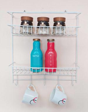 Organizador 2 niveles plastificado para cocina