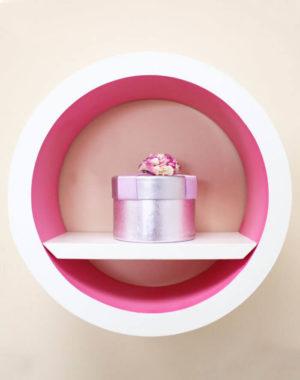 Set de Cículos de madera color Rosa