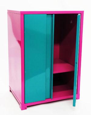 Locker apilable de color rosa