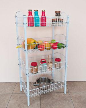 Organizador de cocina con 4 compartimientos