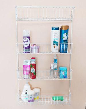 Organizador para baño de 4 puestos color blanco